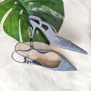 Zara slingback suede heels, NWT!